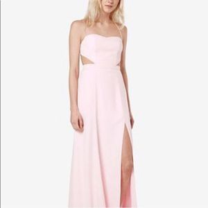 New Fame and Partners Backless Starlet Dress Pink